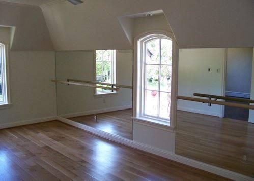 dance studio glass floor to ceiling