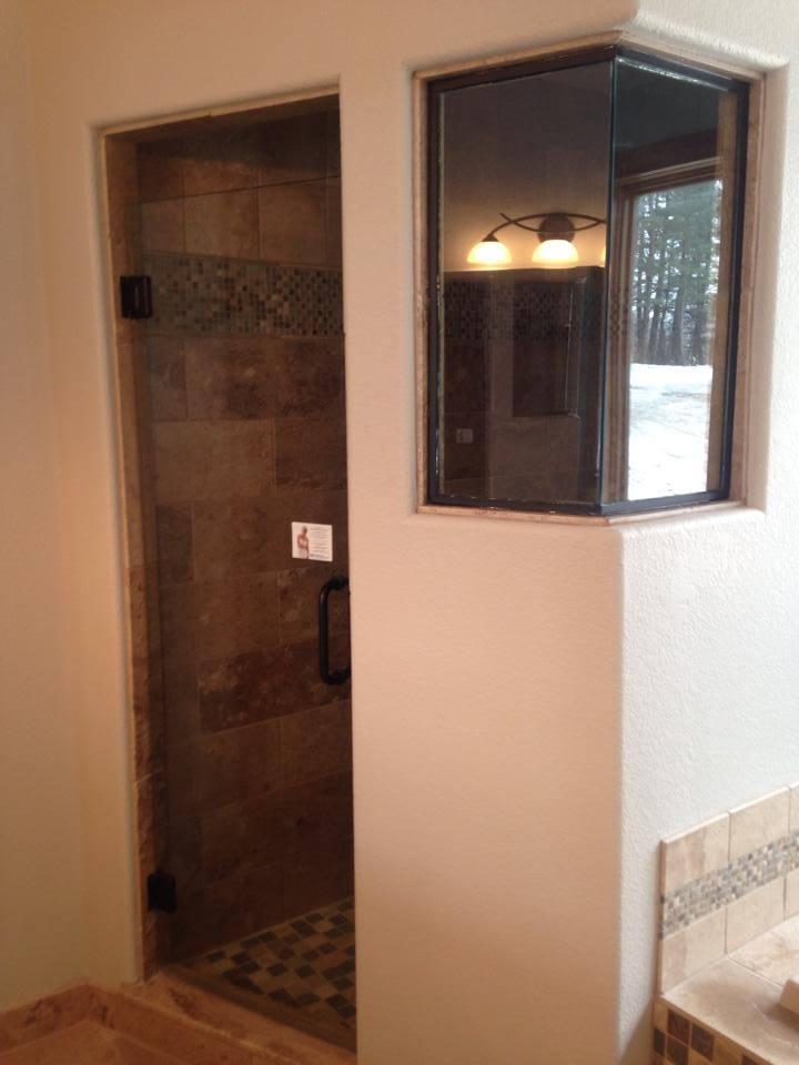 framed wall shower enclosure