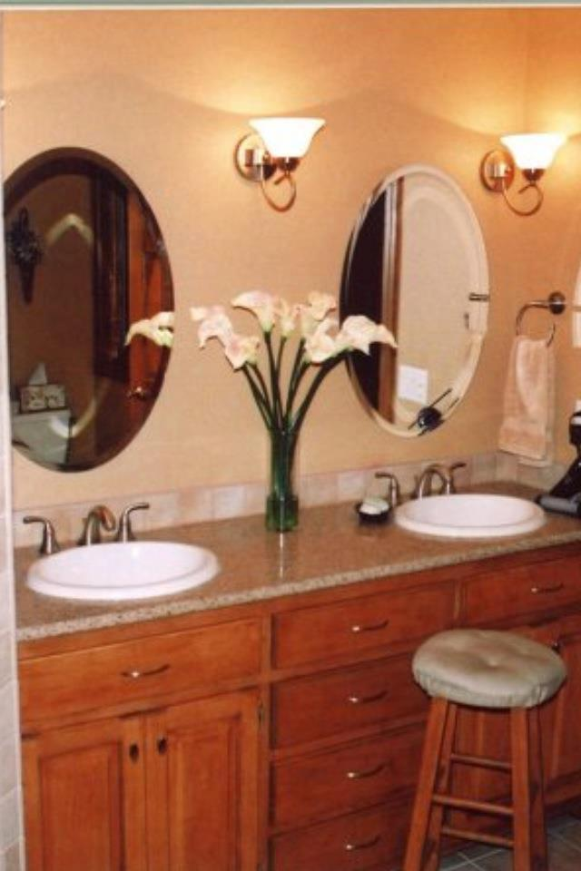 oval custom bathroom mirrors