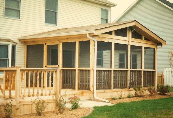 Wooden Deck / Porch Backyard Screen Room Project